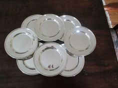 Set of 8 International Sterling Bread Plates H413 from topdraw on Ruby Lane