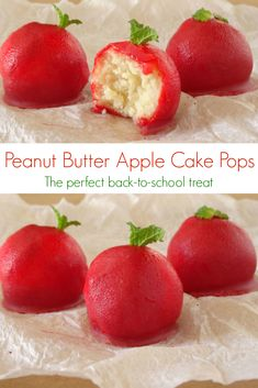 Apple Cake Pops by Pink Recipe Box
