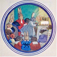 Little Grey Rabbit's Birthday I didn't like it when she cried and Margaret Tempest drew the tear