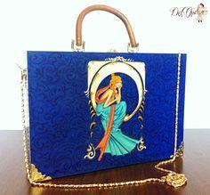 Wood bag, hand painted, art nouveau style (300 LEI la DelOv.breslo.ro)