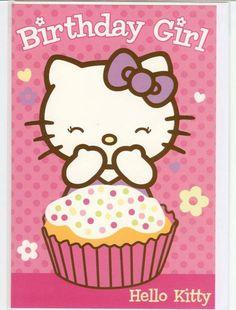 Birthday Hello Kitty Happy Girls Qoutes Cat