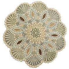 Marilla Scallop Round Wool Rug