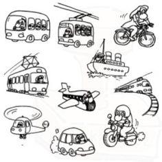 Dopravní prostředky - razítka All Kids, Needlework, Wedding Gifts, Clip Art, Embroidery, Comics, Children, Colouring, Fictional Characters