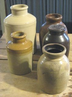Earthen ware crocks