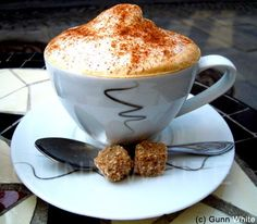 """The best cappuccino I have had for a long time!:) This is from """"Bacchus"""". I Love Coffee, Best Coffee, My Coffee, Morning Coffee, Love Chocolate, Chocolate Coffee, Coffee Aroma, Coffee And Donuts, Coffee Photos"""