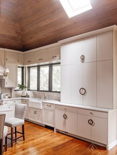 Amy Vermillion Interiors- quartzite counter, steel windows, custom cabinets kitchen design