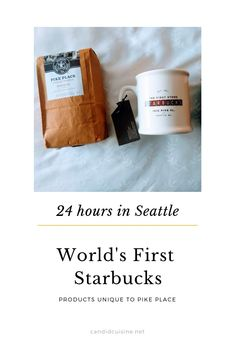 Pike Place Starbucks - The Original Starbucks, The First Starbucks in the World - Candid Cuisine Starbucks Store, Starbucks Reserve, Starbucks Mugs, Starbucks Seattle, Seattle Travel Guide, Coffee Places, Pike Place Market, Tasting Room, Some Words