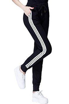 COCOLEGGINGS Womens Cotton Drawstring Elastic Waist Cuffed Jogger Sweatpants