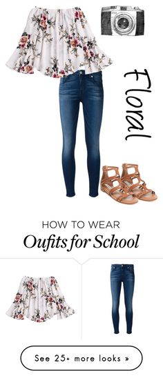 """Tomorrow is my last day of school!"" by lanie6115 on Polyvore featuring 7 For All Mankind and Steve Madden"