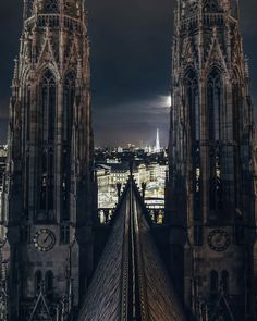 Votivkirche, Vienna Gothic Architecture, Beautiful Buildings, Empire State Building, Vienna, Medieval, Europe, Landscape, Country, Imagination