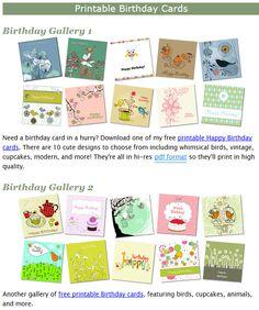 free birthday printable cards free printable homemade gifts greeting cards printable maps handmade gifts free printables diy gifts hand made gifts