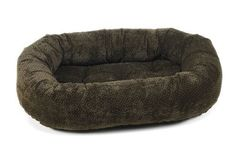 Diamond Microvelvet Donut Pet Bed - Chocolate Bones (Small: 27 x 22 x 7 in.) * Check out the image by visiting the link.