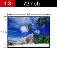 67.99$  Watch here - http://alimx7.worldwells.pw/go.php?t=32720466185 - Projector Video Movie Soft Pvc Screen with holes Portable folding Home Theater Wall Mounted 72inch 4:3