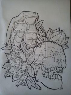 Grenade Skull tat idea More