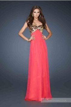 2014 Red Long Cheap La Femme 18608 Prom Dresses