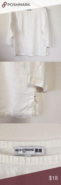 Selling this Uniqlo Long Sleeve Linen Blouse on Poshmark! My username is: loremz. #shopmycloset #poshmark #fashion #shopping #style #forsale #Uniqlo #Tops