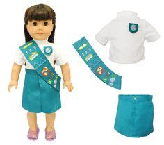 Junior Girl Scout Uniform For American Girl / Madame Alexander 18 Inch Dolls