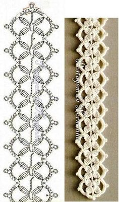lace headband flower tutorial 52 Ideas, Crochet lace headband flower tutorial 52 Ideas, Crochet lace headband flower tutorial 52 Ideas, I have no idea how to do this but would love to learn! crochet so cute and beauty dress and tank top Crochet Edging Patterns, Crochet Lace Edging, Crochet Diagram, Irish Crochet, Crochet Designs, Crochet Doilies, Crochet Flowers, Knitting Patterns, Crocheted Lace