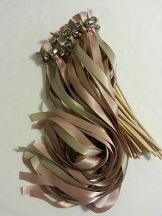100 Ribbon Bell Ribbon Wands   Send off Bell by DivinityBraid