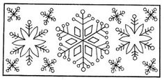 Snowflake Mat - Rug Pattern on Linen - 12 x 25.