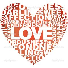 love words and heart