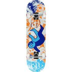 Alien Workshop Skateboard Complete Premonitions Falling 8.125' Raw Assmebled, Blue