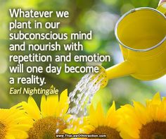 Earl Nightingale, Meditation Exercises, Law Of Attraction Money, Subconscious Mind, Up Girl, Daily Motivation, Marriage Advice, Worlds Of Fun, Positive Thoughts
