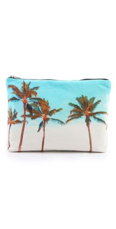 FREE SHIPPING at shopbop.com. A sunny ocean-side scene prints this resort-ready Samudra pouch. The zip top opens to a lined interior. Weight: 5oz / 0.14kg. Imported, India. MEASUREMENTS Height: 9in / 23cm Length: 14in / 35.5cm Depth: 2.5in / 6.5cm - Maili