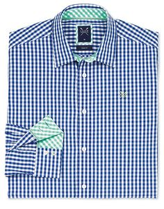 Buy our Men's Crew Classic Gingham Shirt for £55 available in Bright Blue at Crew Clothing. For more shirts, visit Crew Clothing.