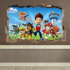 Fotomural Infantil: Agujero La Pat Patrouille - Paw Patrol. Décoration de Chambre d'enfant #Pat #Patrouille #enfance #deco #décoration #vinyle #mur #WebStickersMuraux