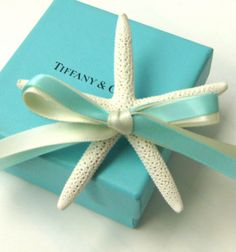 """14 Ribbon Colors - Starfish Boutonniere withTwo Ribbons for Beach Weddings - leave colors desired in """"note to seller"""""""