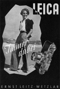 Publicité Leica des années 30.