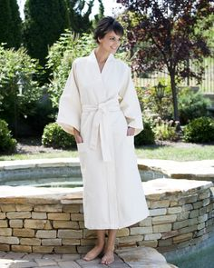 Our cotton jacquard bathrobe is the perfect choice for him or her!  Lightweight and airy 58668b4a6