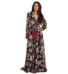 Roselyn- Black Floral Romance Dress