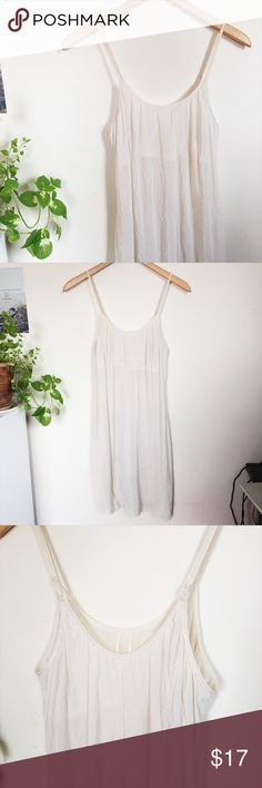 "Sexy Vintage Sheer Lingerie Nighty No tags or size on this but I'd say it's a small/medium. Has some stretch to it. Very sheer and see through sexy lingerie nighty/chemise. A lovely off-white/ivory color. Thin straps and hangs down to about mid thigh when worn, may vary depending on your height. Has a built in ""bra"" as well. Great condition! Intimates & Sleepwear Chemises & Slips"