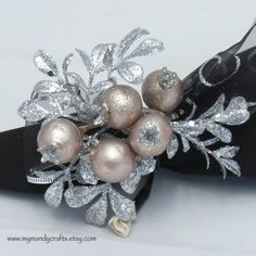 Napkin Rings  Winter Silver and Blush Napkin by mymandycrafts, $15.00