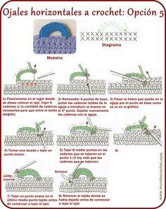 Crochet Stitches Chart, Crochet Symbols, Crochet Diagram, Crochet Basics, Crochet Motif, Crochet Patterns, Crochet Cord, Crochet Buttons, Diy Crochet