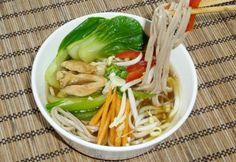 Leves sobával és különböző feltétekkel Pak Choi, Kung Fu Panda, Meat, Food, Beef, Meals, Yemek, Eten