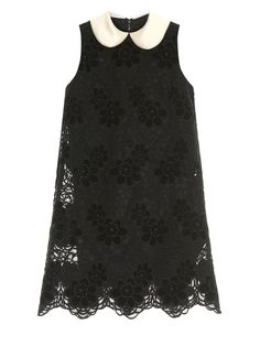 DOLCE & GABBANA Satin-collar lace dress