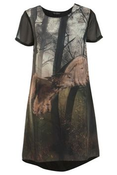 Fowl Play: These 17 Eccentric Owl Designs Soar With High Style! #refinery29  http://www.refinery29.com/stylish-owl-designs#slide-4  Miss Selfridge Owl Printed T-Shirt Dress, $74, available at Miss Selfridge. ...