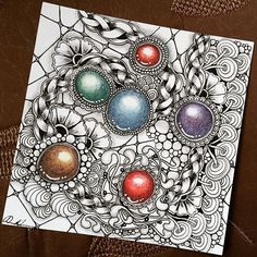 Zentangle Gems - ZIA111316. Artwork from Rebecca Kuan - #rebeccasecretbox Welcome to visit my FB Page: http://www.facebook.com/Rebecca.Zentanglebox/ #zia #zentangle #zendoodle #doodle #doodleart #draw #drawing #tangle #art #artwork #sketch #zengems #zentanglegems #gems #zentangleart #zentangleinspiration #learnzentangle #zenart #hearttangles