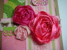 Ideas for Scrapbookers: Creating a Hand-made Flower by Nancy H.!