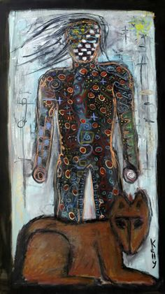 Warrior 43 x 70 oily on a loose canvas i want him on my side he is a warrior