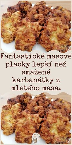 Czech Recipes, Food Platters, Food Humor, Pumpkin Recipes, Cauliflower, Chicken Recipes, Pork, Food And Drink, Low Carb