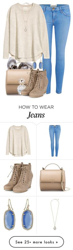 """Bought AE Jeans Today!"" by red-velvet-n-pearls on Polyvore featuring Current/Elliott, Tory Burch, H&M, Kendra Scott, Givenchy and Marc Jacobs"