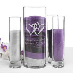 Dreaming of having a romantic sand ceremony at your wedding? Find affordable, stunning sand ceremony sets & unity sand pieces at David's Bridal today! Wedding Ceremony Readings, Unity Ceremony, Wedding Sand Ceremony, Renewal Wedding, Church Wedding, Outdoor Ceremony, Purple And Silver Wedding, Foto Fun, Unity Sand