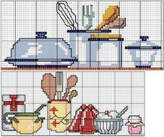 Ponto cruz: cozinha graficos ponto cruz
