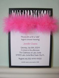 Zebra Party Invites