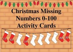 A fun activity to reinforce order and number recognition to Children identify the missing numbers and put the correct number in the space provided. 28 cards pages). Number Recognition, Xmas, Christmas, Fun Activities, Cards, Pictures, Natal, Natal, Short I Activities