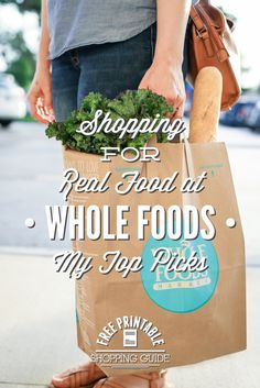 Do you feel overwhelmed by the millions of choices in the grocery store? Learn what to buy at Whole Foods, how to save money, and tips to keep your shopping enjoyable! Plus, a free printable shopping list! Take the guess work out of healthy and affordable. http://livesimply.me/2015/06/19/shopping-for-real-food-at-whole-foods/